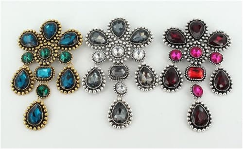 MULTI-COLORED CRYSTAL BROOCH Brooch