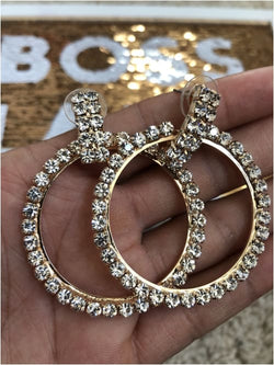NETTY HOOPS Bridal Earrings