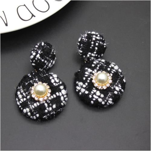 OMO EARRINGS Tweed - Black & White Earrings