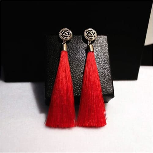 RED BIJOUX TASSELS Earrings