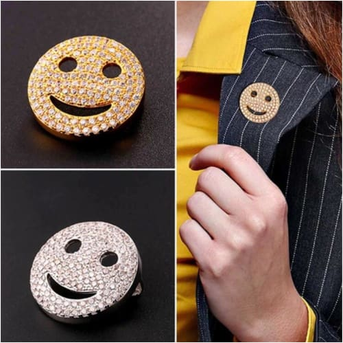 SMILEY BROOCH PIN Brooch