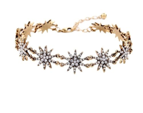 STAR RHINESTONE CHOKER NECKLACE necklace