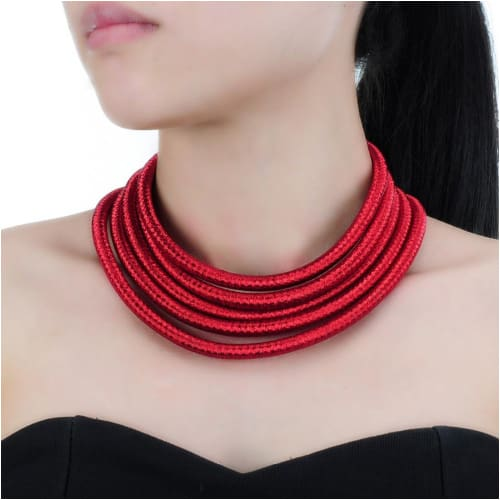 TRIBAL NECKLACE SET Red (Necklace Only) necklace