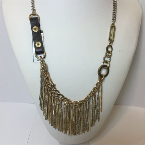 TWO TONE FRINGE NECKLACE Necklace