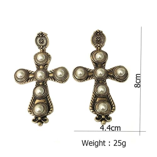 VINTAGE CROSS EARRINGS Earrings