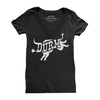 DURM Bull Women's Form Fitting V-neck(charcoal)