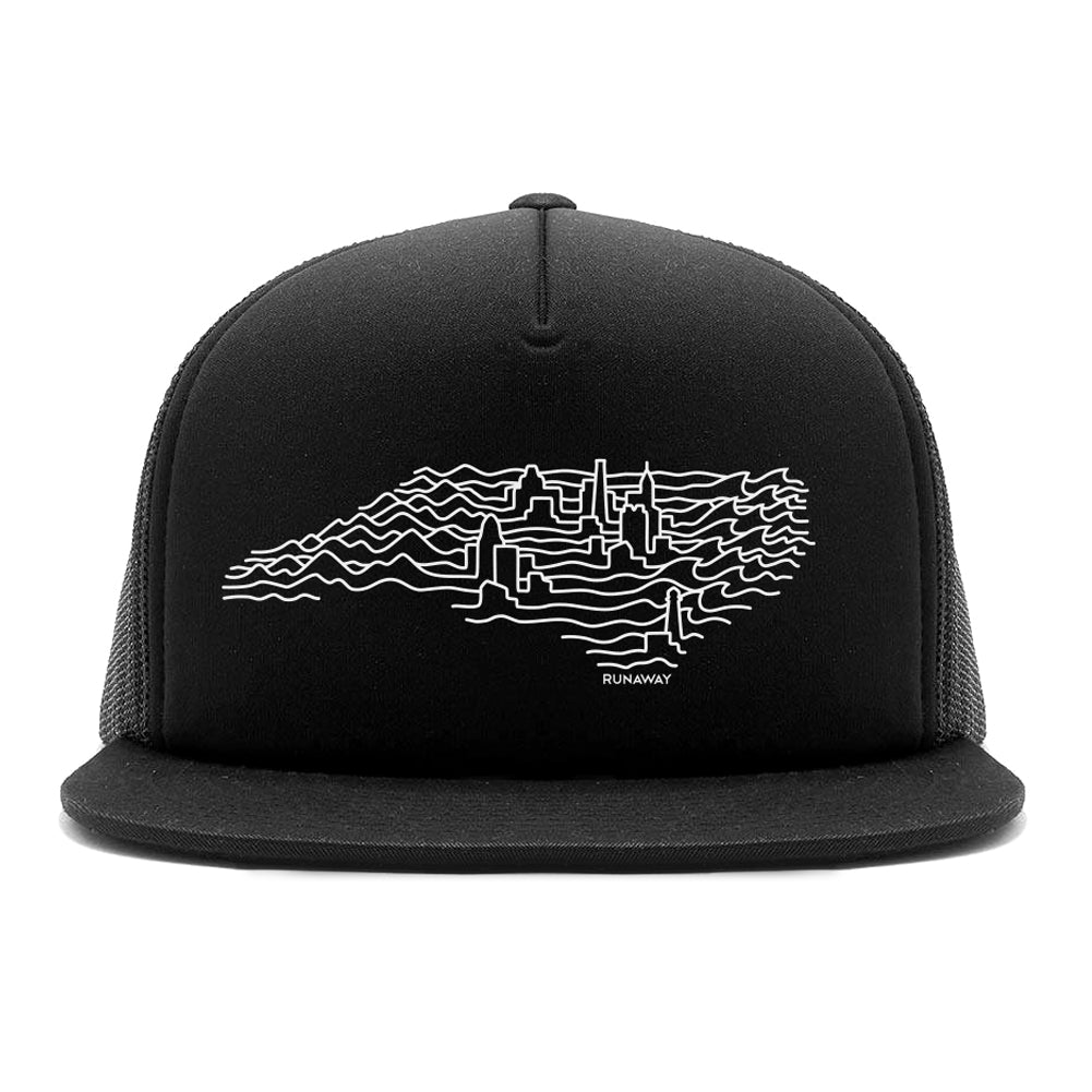 NC Wavelength Trucker Hat(black)