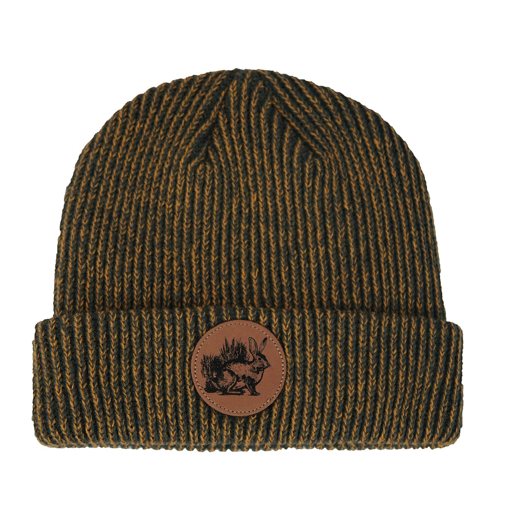 Rabbit Cuff Beanie (Gold)