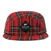 Plaid 5 Panel Hat (Red)