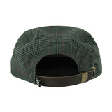 Plaid 5 Panel Hat (Charcoal)