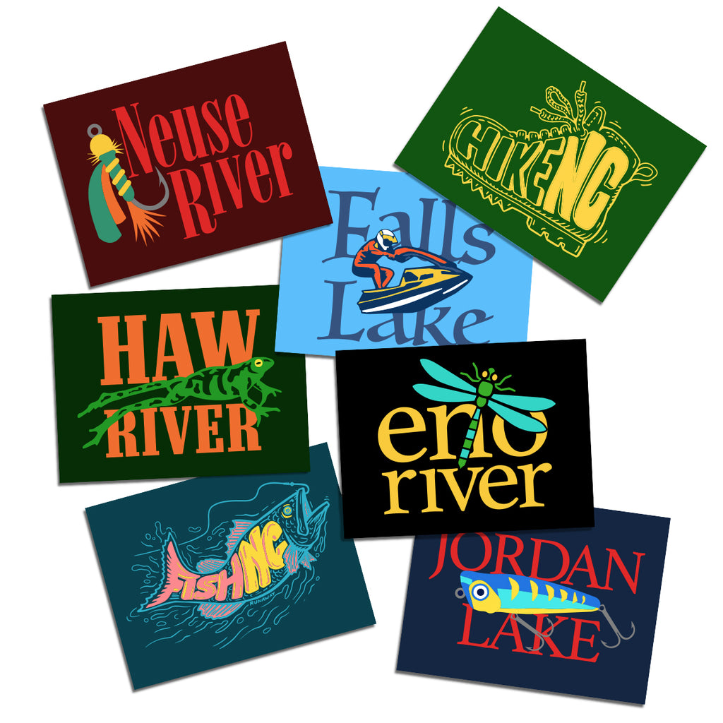 Piedmont Watershed Sticker Pack