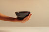 Black brown glazed glossy Stoneware Contemporary Ceramic Wheel Thrown Matcha Tea Bowl in Hand