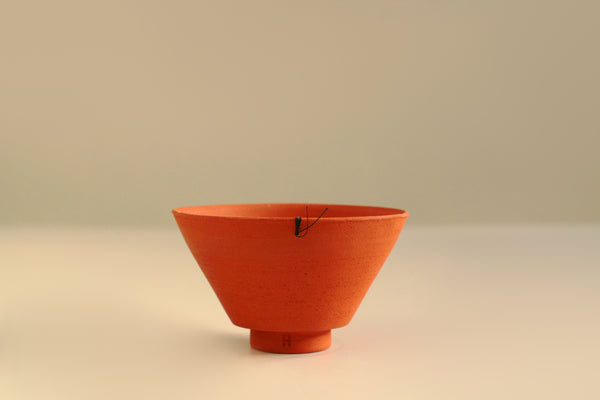 Red Stoneware Terracotta Contemporary Ceramic Wheel Thrown Earthy Tea Bowl