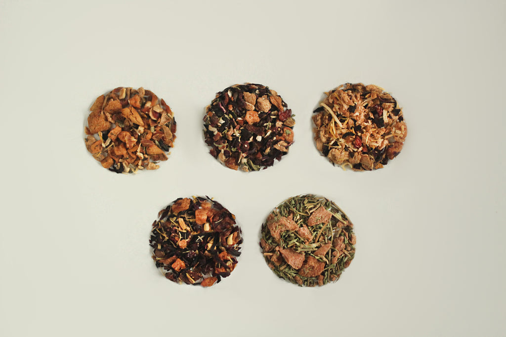 All-Natural, Organic, Loose Leaf, Freeze Dried Fruit Tisane Tea Sample Packs