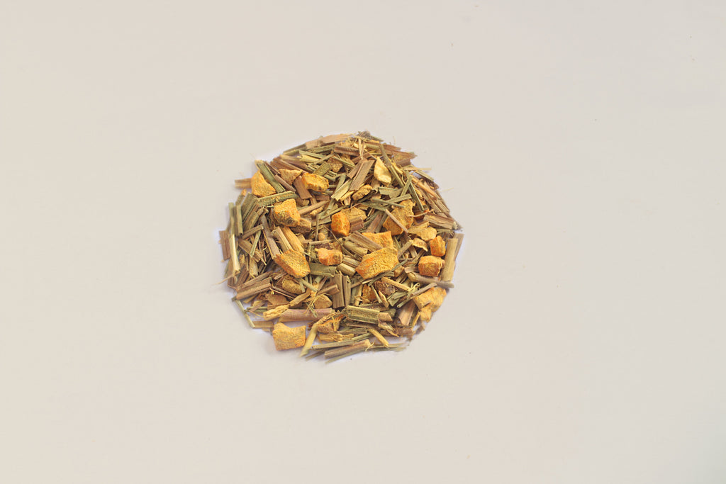 An All-Natural, Organic, Loose Leaf, Immunity Boosting Turmeric Ginger Tangerine Herbal Tea Blend