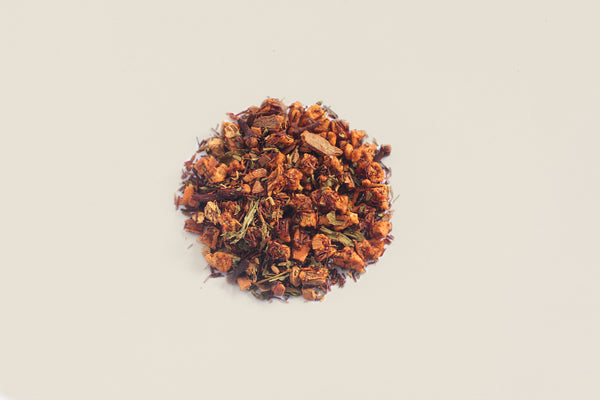 An All-Natural, Organic, Loose Leaf, Spiced Apple Rooibos Herbal Non-caffeinated Flavored Tea Blend