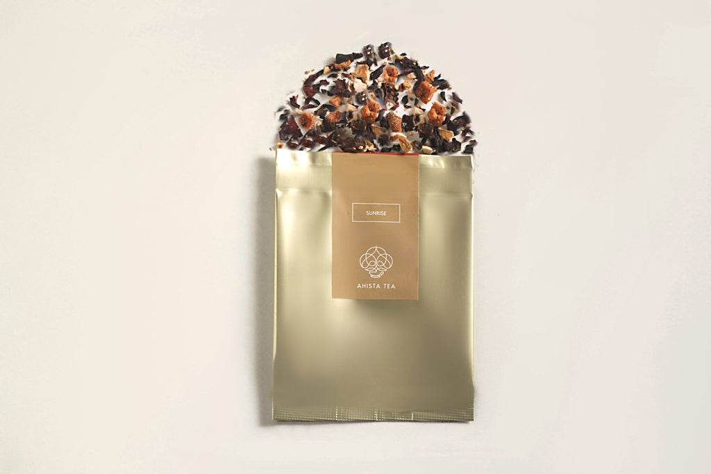 All-Natural, Organic, Loose Leaf, Mango Passionfruit Fruit Tisane Tea Blend Caffeine-Free Naturally Sweetened.
