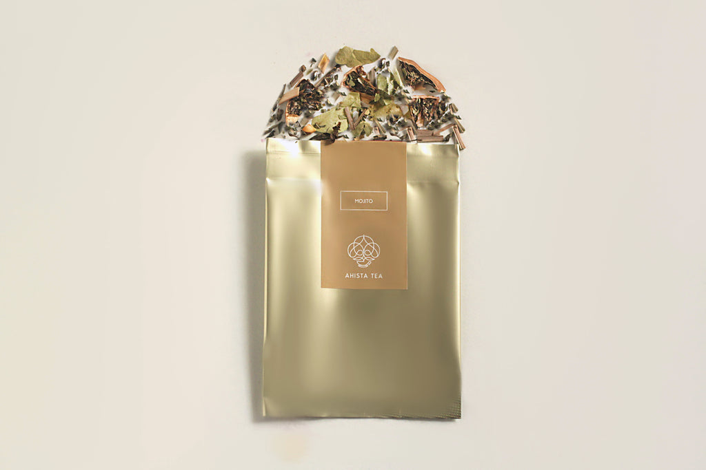 Mojito Green Tea Mint Lime Tea Sample Pack Luxury Premium Ahista Tea