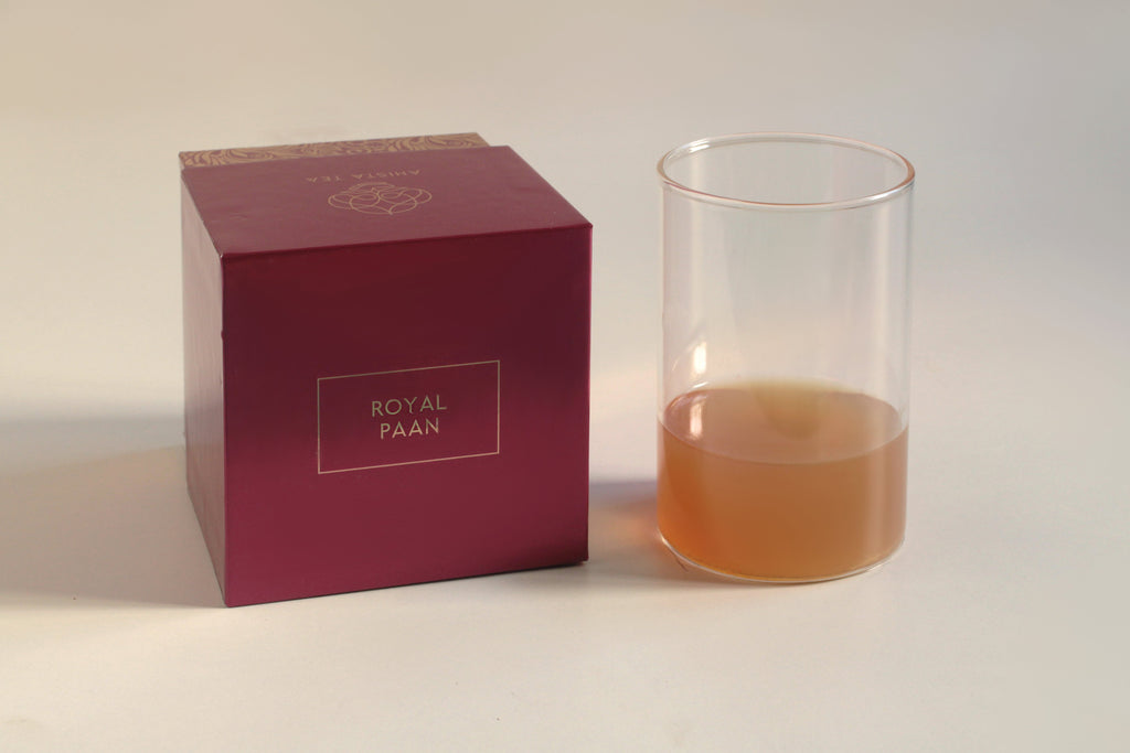 All-Natural, Organic, Loose Leaf, Mouth freshener, Paan Green Tea Flavored Blend Liquor and Luxury Tea Gift Packaging