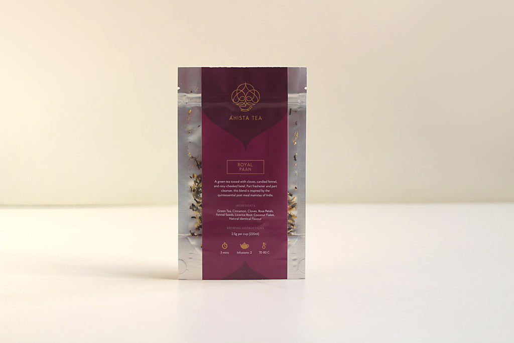 All-Natural, Organic, Loose Leaf, Mouth freshener, Paan Green Tea Flavored Blend Refill Bags for Tea Enthusiasts, Connoisseurs, Corporate Employees and Clients.