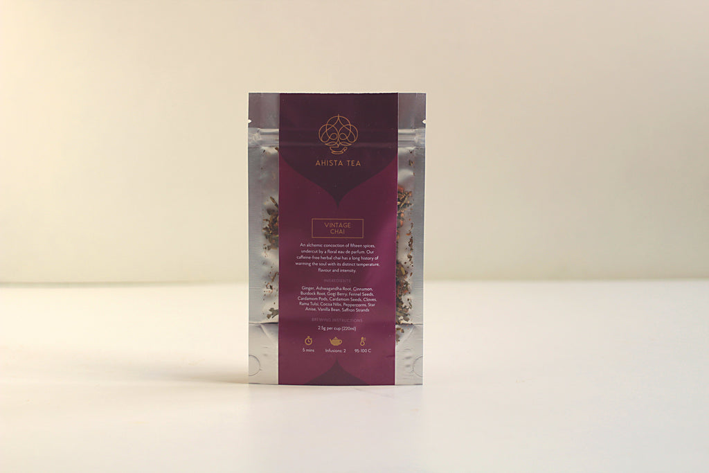 A 15 spice detox Herbal Chai Tisane Tea Refill Bags for Tea Enthusiasts, Connoisseurs, Corporate Employees and Clients.