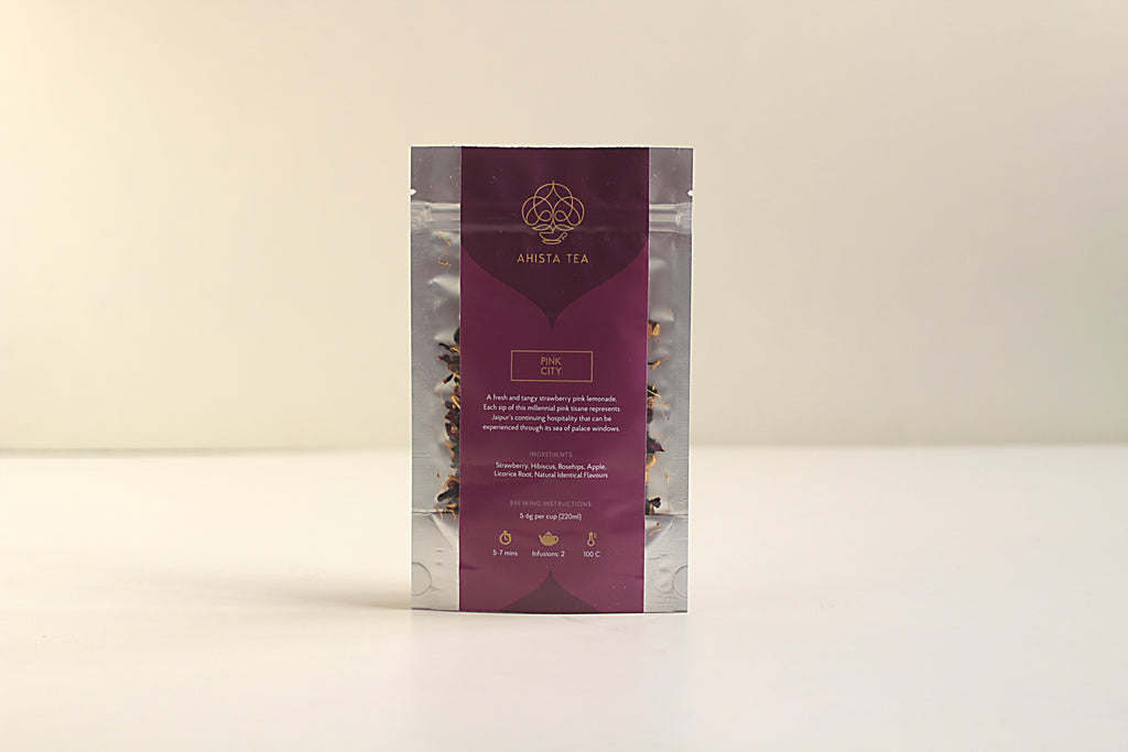 All-Natural, Organic, Loose Leaf, Strawberry Pink Lemonade Fruit Tisane Tea Blend Refill Bags for Tea Enthusiasts and Corporate Clients