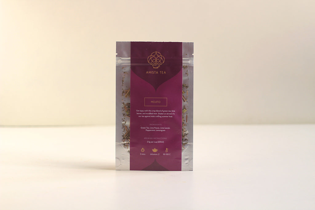 Mojito Mint Lime All Natural Organic Tea Blend Refill Bags for Tea Enthusiasts, Connoisseurs, Corporate Employees and Clients.