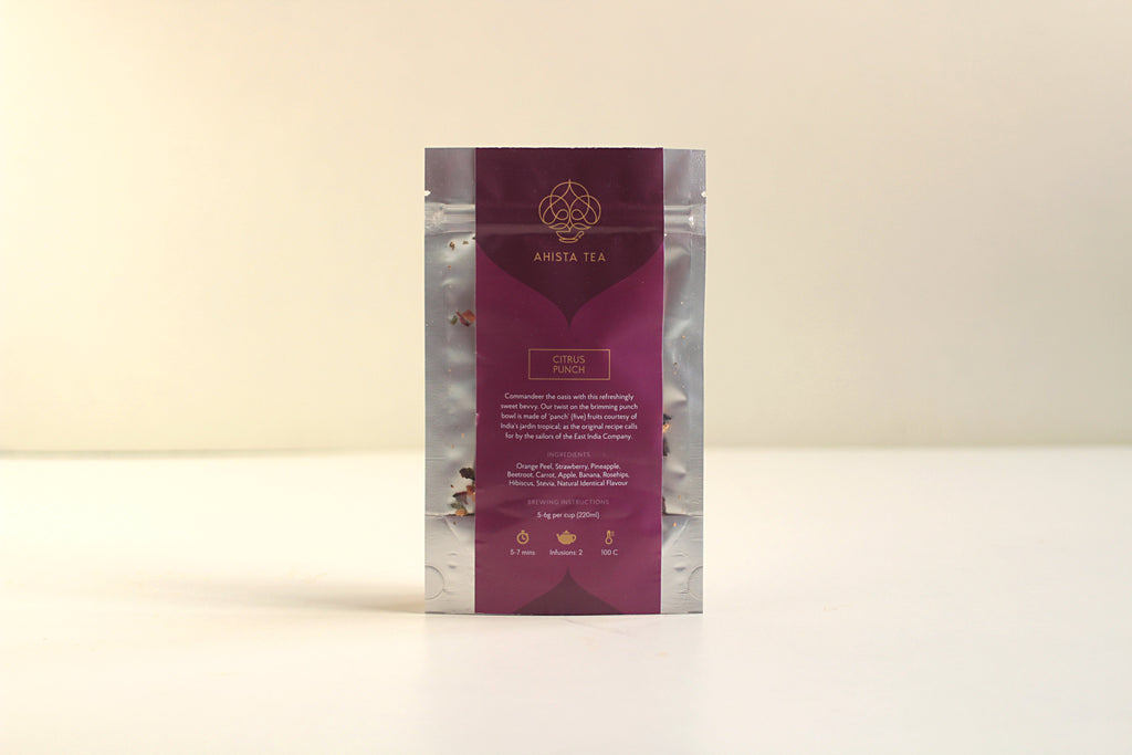 All-Natural, Organic, Loose Leaf, Citrus Punch Fruit Tisane Tea Blend Refill Bags Iced Tea and Cold Brew Tea for Tea Enthusiasts, Connoisseurs, Corporate Employees and Clients.