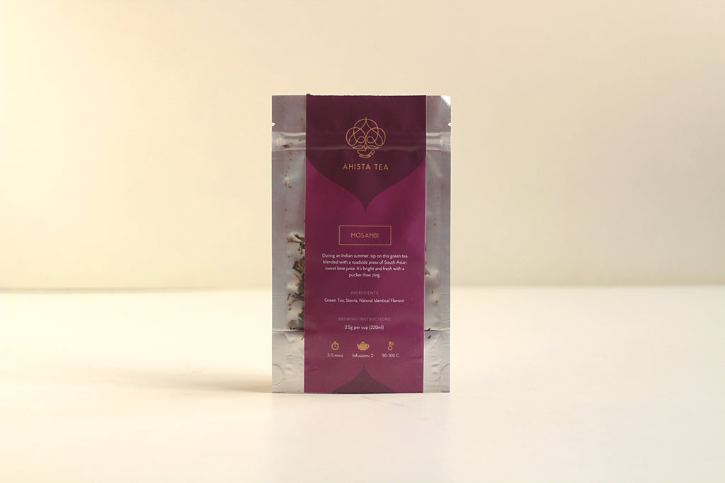 Sweet Lime Mosambi Tea Blend Cold Brew Iced Tea Refill Bags for Tea Enthusiasts, Connoisseurs, Corporate Employees and Clients.
