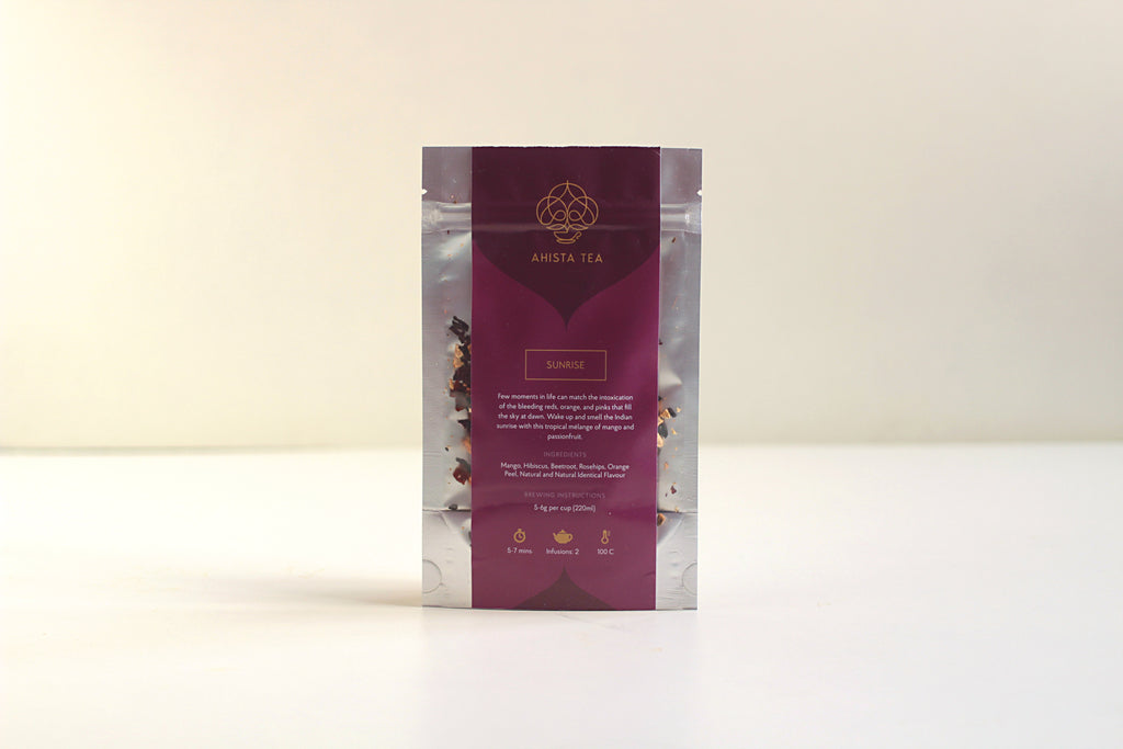 All-Natural, Organic, Loose Leaf, Mango Passionfruit Fruit Tisane Tea Blend Refill Bags for Iced Tea and Cold Brew Tea.