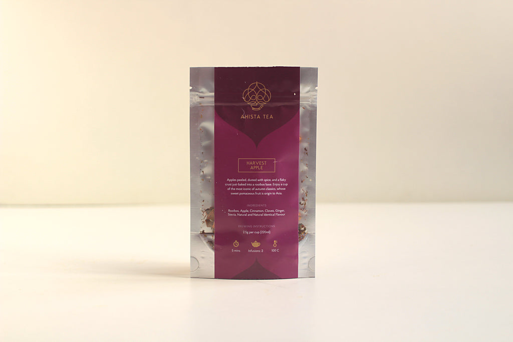 Spiced Apple Rooibos Non-caffeinated Flavored Tea Refill Bags for Tea Enthusiasts, Connoisseurs, Corporate Employees and Clients.