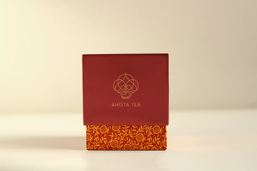 Ahista Tea Luxury Fruit Tisane Tea Blend Gift Packaging Loose Leaf for Tea Enthusiasts, Connoisseurs, Corporate Employees and Clients.