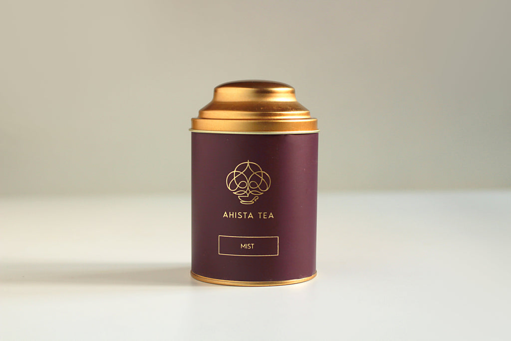 Premium, Single-Batch Loose Leaf Green Tea Luxury Tin Packaging Ahista Tea