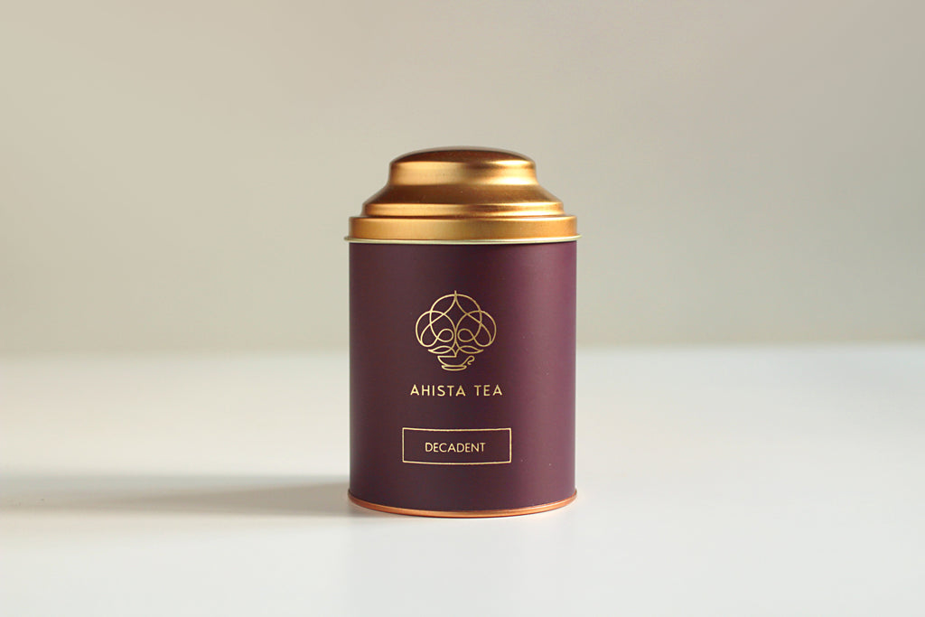 Premium, Single-Batch Indian Loose Leaf Black Tea Luxury Tin Packaging Ahista Tea