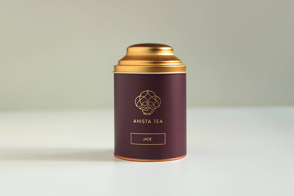 Premium, Single-Batch Loose Leaf Indian Green Tea Luxury Tin Ahista Tea