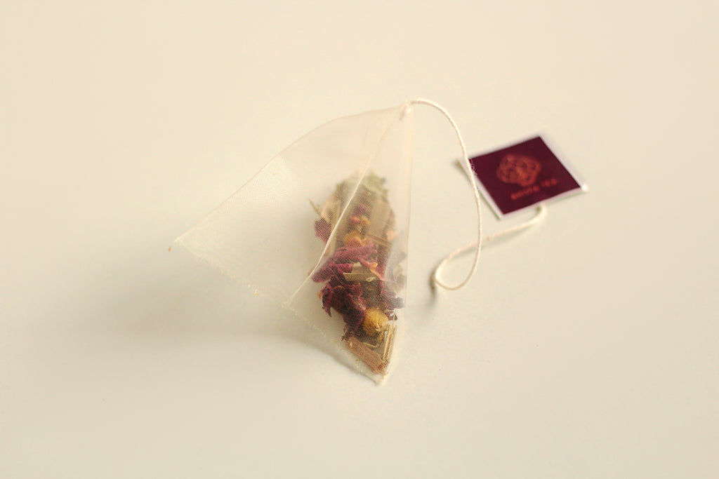 All-Natural, Organic, Sleepytime Bedtime Chamomile Rose Petals Lavender Herbal Tea Blend in Biodegradable, Compostable Pyramid Tea Bags