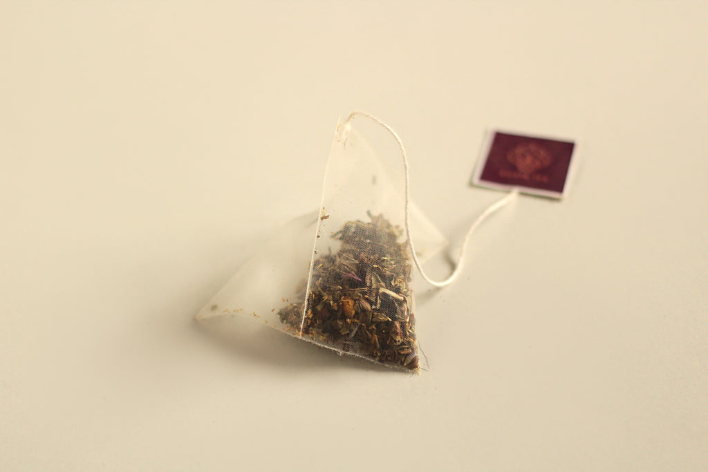 An All-Natural, Organic, Digestive Mint Herbal Tea Blend in Biodegradable, Compostable Pyramid Tea Bags