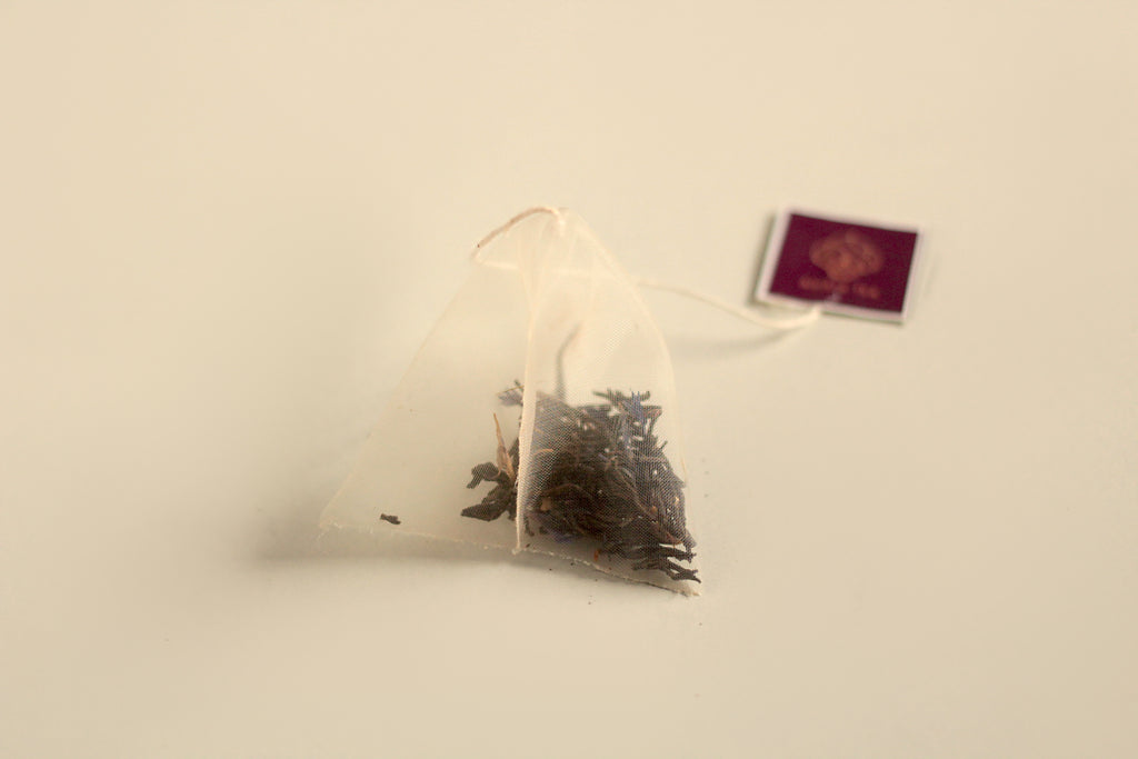 An All-Natural, Organic, Aged, Cream of Earl Grey Bergamot Black Tea Blend in Biodegradable, Compostable Pyramid Tea Bags