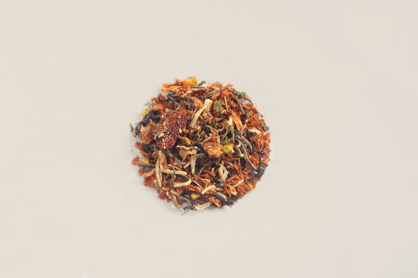 All-Natural, Organic, Loose Leaf, Rose Falooda Vanilla Rose Dessert White Tea Dessert Tea Blend