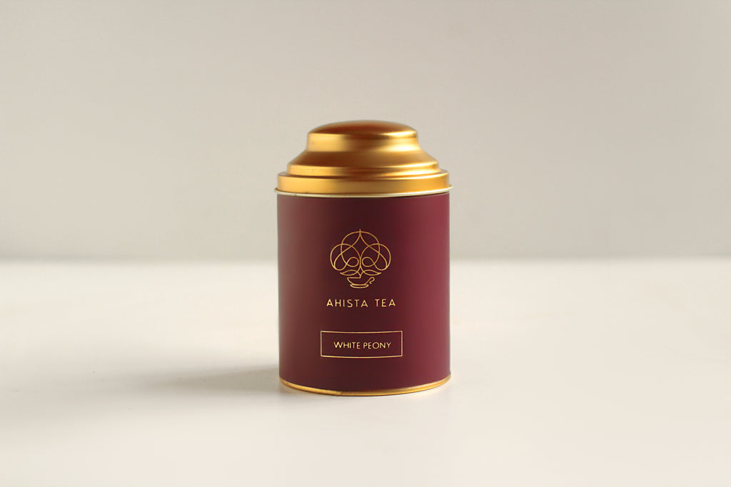 White Peony Baimudan White Tea Luxury Tin Packaging Ahista Tea