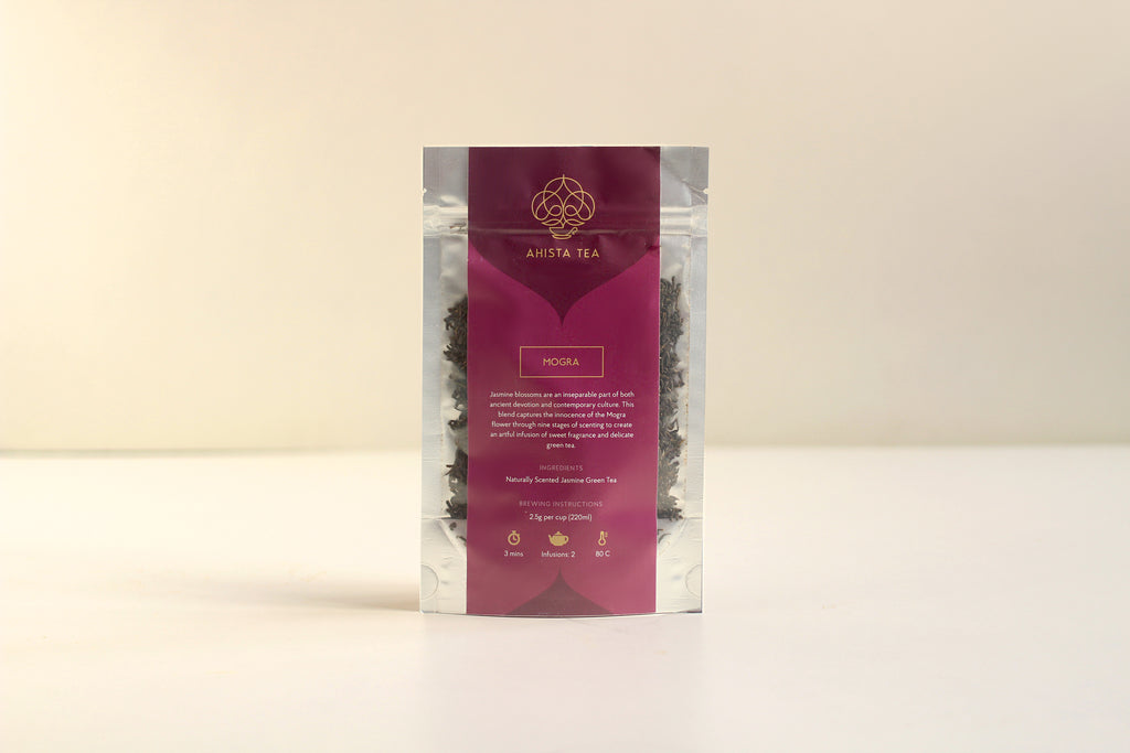 Naturally Scented, Organic, Loose Leaf Jasmine Green Tea Blend Refill Bags for Tea Enthusiasts, Connoisseurs, Corporate Employees and Clients.