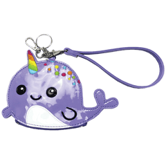 Purse/Keychain, Narwhal