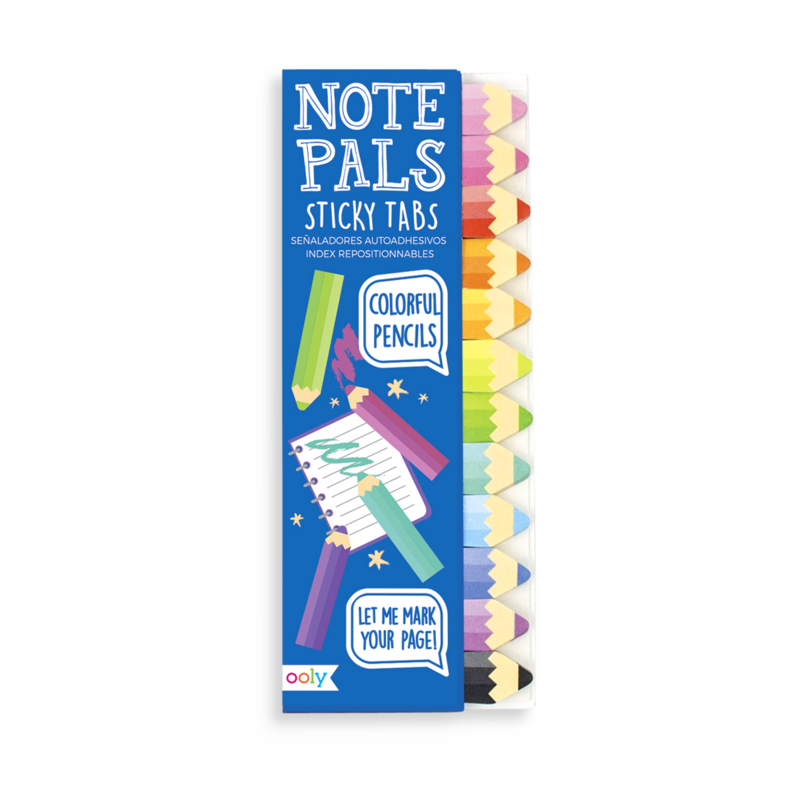 Note Pals Sticky Tabs, Colorful Pencils