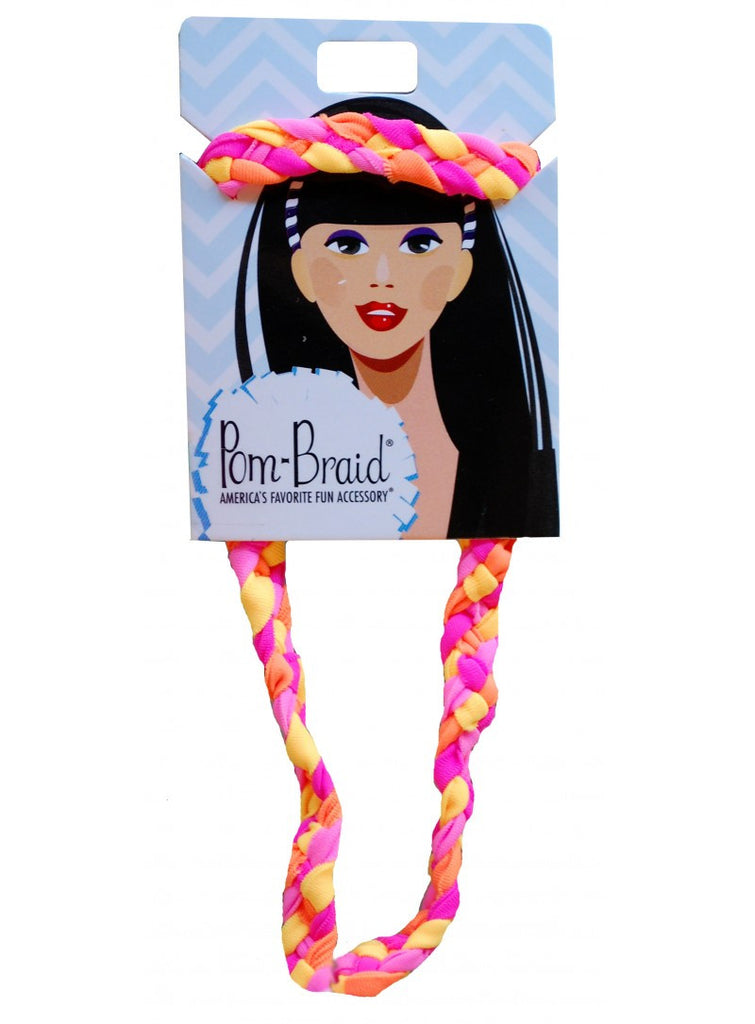 Pom Single Braid Headband, 3 Colors