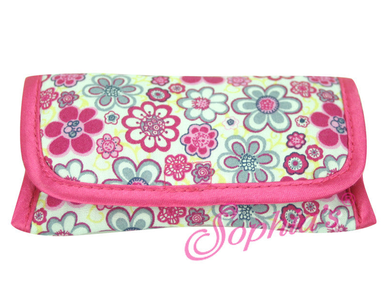 Flower Print Flap Glasses Case