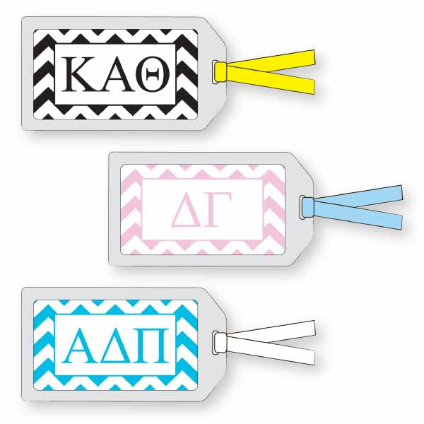 Sorority Luggage Tag, Chevron