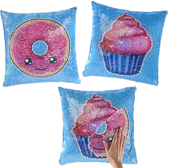 Magic Sequin Pillow, Sweets