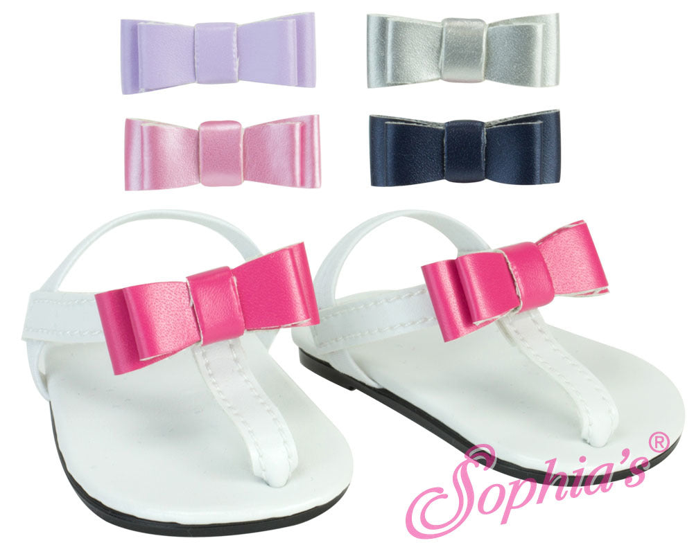 Sandals with 5 Changeable Bows