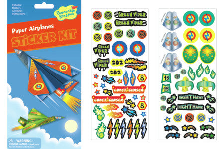 Quick Sticker Kit, Paper Airplanes