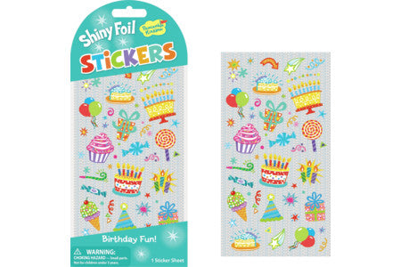 Stickers, Glitter Foil Birthday